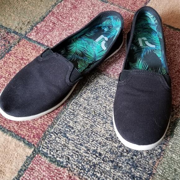 Nwot Report Black Canvas Slip On Shoes